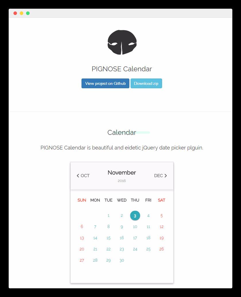 PIGNOSE-Calendar